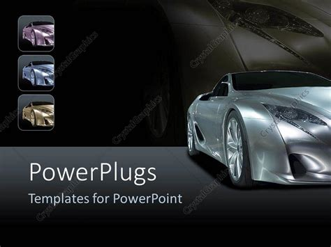 powerpoint themes cars powerpoint template silver sport car on background with