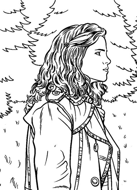 harry potter coloring book colored harry potter hermione coloring pages selfcoloringpages