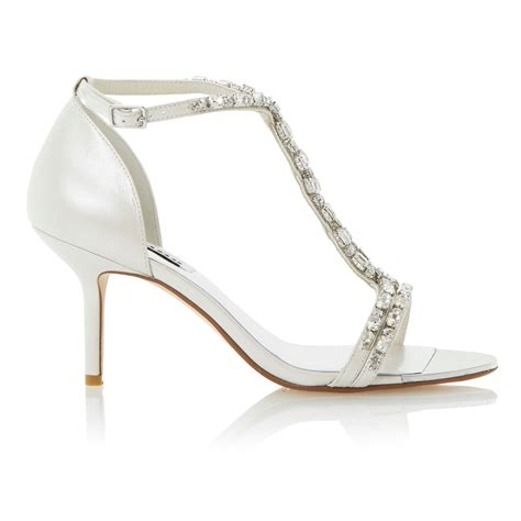 dune heels sandals dune happiness leather tbar jewelled stiletto sandals in