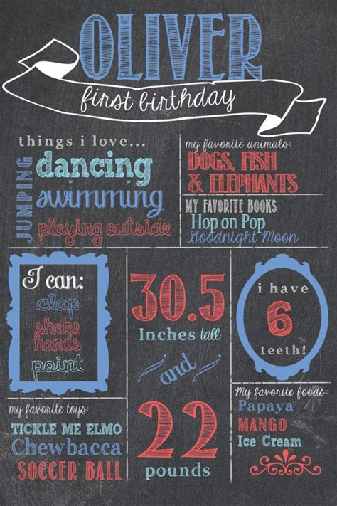 printable chalkboard poster first birthday chalkboard poster printable includes