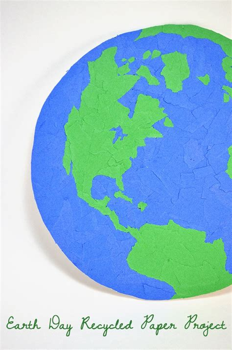 Earth Day Paper Crafts - earth day recycled paper project spark