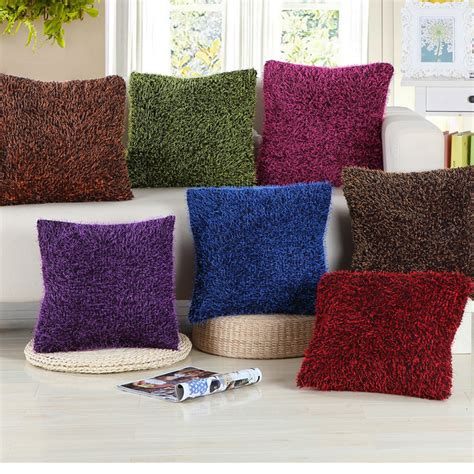big fluffy couch pillows plush fluffy decorative pillow covering throw sofa seat