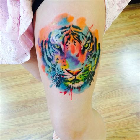 watercolor tiger tattoo my beautiful watercolor tiger