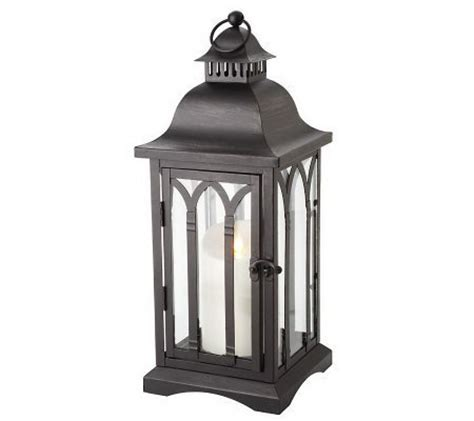 luminara 15 quot cathdral candle lantern by bethlehem lights