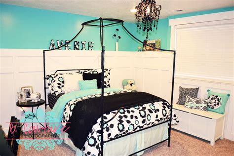 turquoise and black bedroom wednesday design
