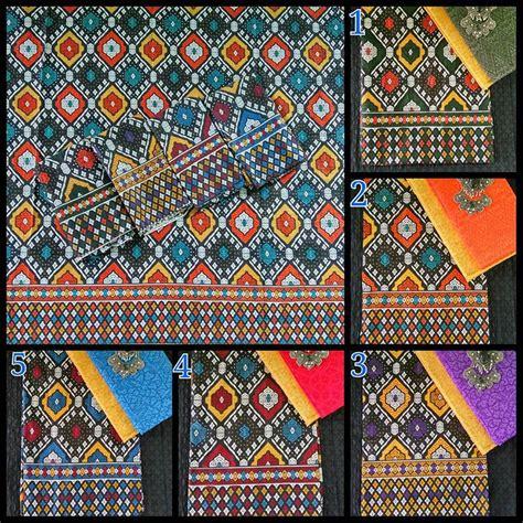 Kain Batik Prada Pekalongan Motif Songket Set Embos Warna Biru kain batik motif songket dan kombinasi kain embos ka1 9 batik pekalongan by jesko batik
