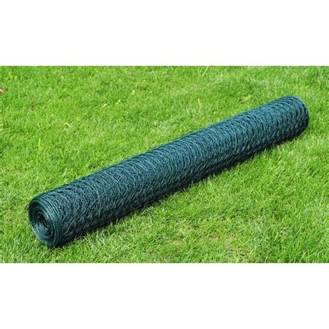 Plastic Covering 1 1 M X 25 M Blue Green hexagonal wire netting 1 m x 25 m pvc coated thickness 0 8 mm vidaxl co uk