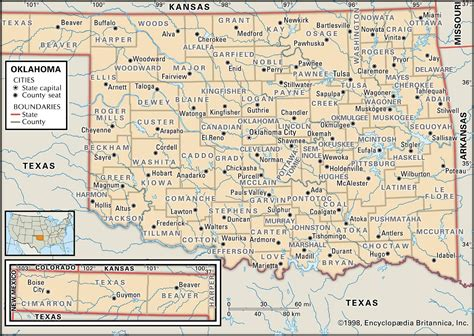 map of oklahoma counties state and county maps of oklahoma
