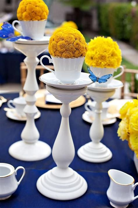 Royal Blue/Yellow Bridal Shower   Tablescapes   Pinterest