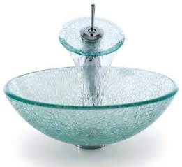 glass bathroom vessel sinks kraus c gv 500 12mm 10 broken glass vessel sink and