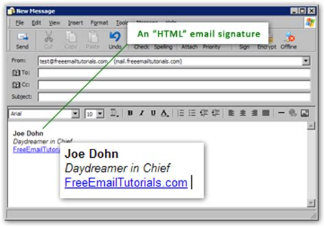 email format text or html create an html email signature in outlook express rich