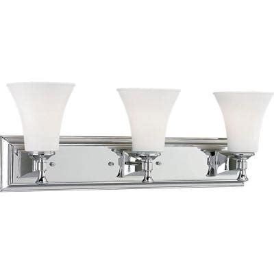 bathroom lights home depot progress lighting fairfield collection 3 light chrome bath