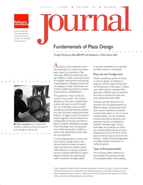 design by journal leeds fundamentals of plaza design craig a hargrove aia