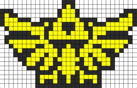 small perler bead patterns small hyrule crest perler bead pattern bead sprites