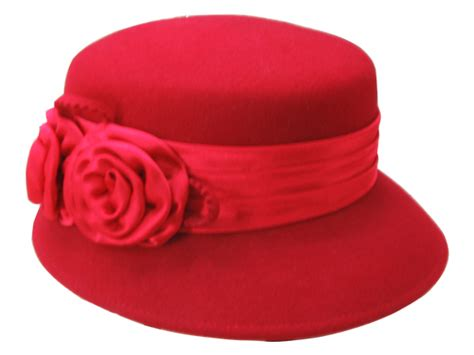 flower design hats maroon wool double flower hat that way hat new hand