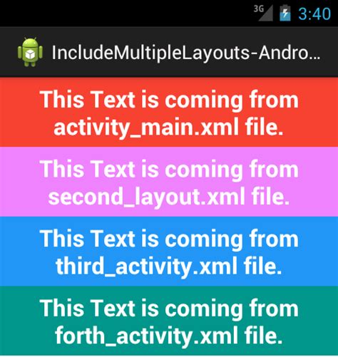 Android Xml Include by Include Layout Android Exles