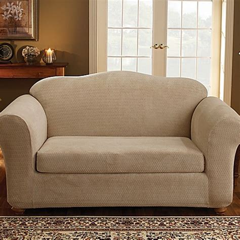 sure fit royal sofa slipcover buy sure fit 174 stretch royal 2 piece loveseat