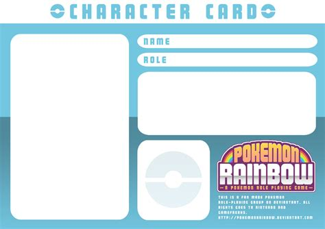 character card templates character card template by ry spirit on deviantart