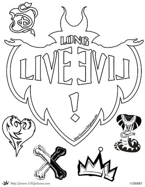 coloring book live descendants live evil coloring page skgaleana by