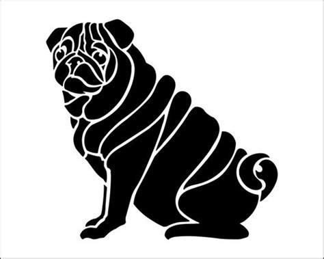 pug stencil pug stencil from the stencil library budget stencils range buy stencils