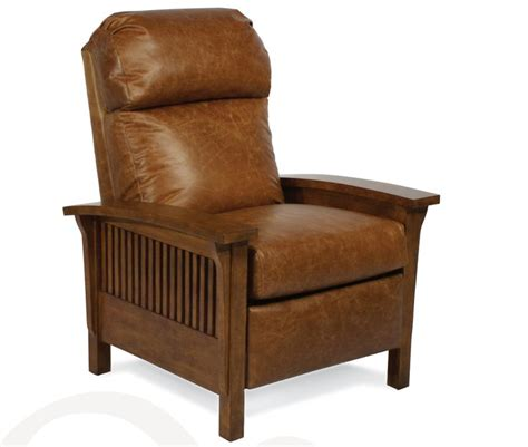 mission style leather recliner mission style recliner in chaps leather leather