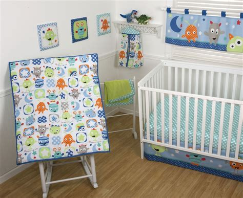 Sumersault Monster Babies Crib Bedding And Accessories Monsters Crib Bedding