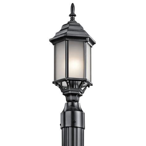 Outdoor Post Light Base Kichler 49256bks Black Chesapeake 1 Light Outdoor Post Light Lightingdirect