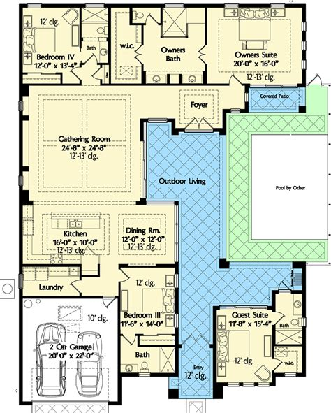 florida floor plans plan 42834mj florida house plan with wonderful casita
