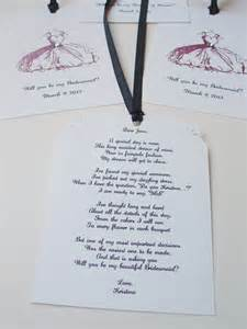 Will You Be My Bridesmaid Poem Items Similar To Fancy Dress Tags Will You Be My