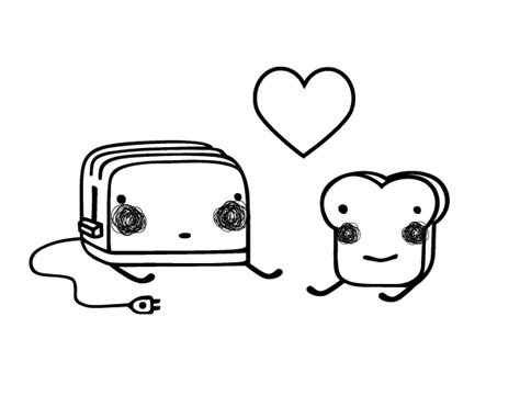 imagenes de amor para colorear tumblr dibujo de tostadora y tostada para colorear dibujos net