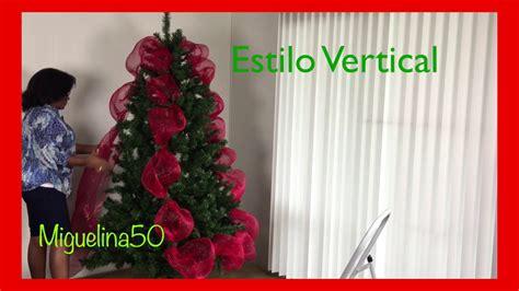 como decorar un arbol de navidad con malla y cinta ideas para decorar el arbol de navidad con malla youtube