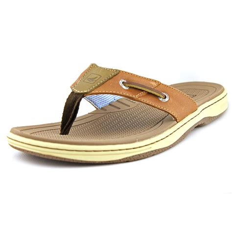mens sperry sandals sperry top sider baitfish leather thongs sandals