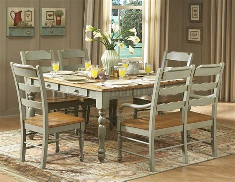 Distressed Dining Room Tables Distressed Seafoam Green Finish Dinette Table W Options