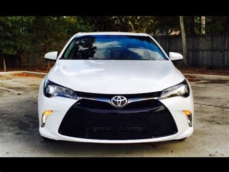 2015 toyota camry xse exhaust / start up / review / short