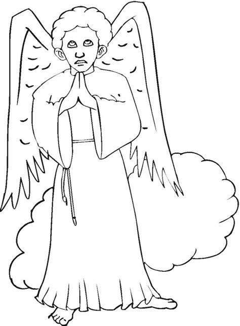 angel gabriel coloring pages printable angel best free
