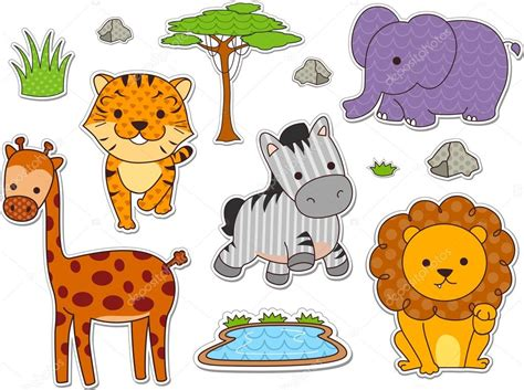 imagenes de animales de safari pegatinas de animales de safari foto de stock 169 lenmdp
