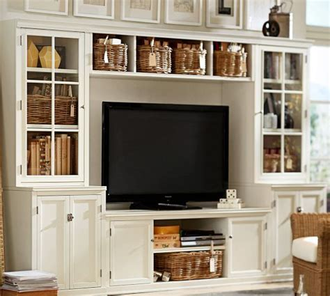 Pottery Barn Media Center logan media system with bridge