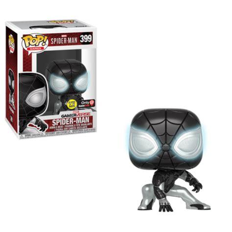 new gamestop exclusive spider man negative suit pop! vinyl