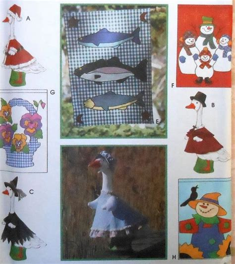 pattern for goose clothes lawn geese clothes sewing pattern uncut simplicity 9019