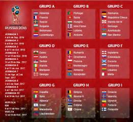 Eliminatorias Rusia 2018 Calendario De Juegos Eliminatorias Rusia 2018 Europa Calendario Fixture