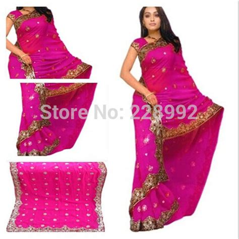 national indian clothing embroidery sari dress classic