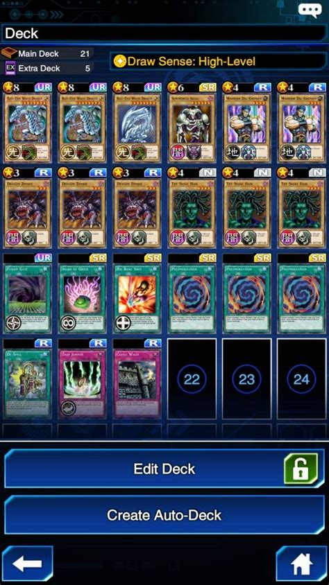 yugioh blue ultimate deck my duel links deck blue ultimate mammoth fusion