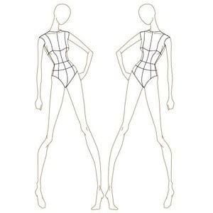 fashion design sketch model templates thdetqu polyvore