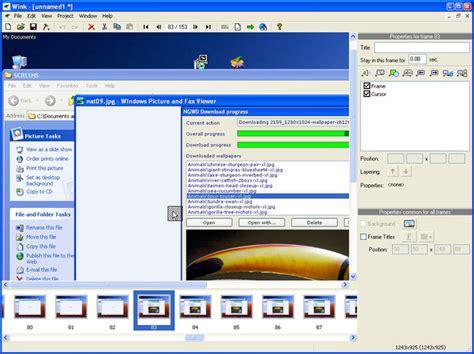 tutorial video making software wink download