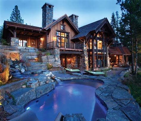 rustic home with rustic landscaping favething