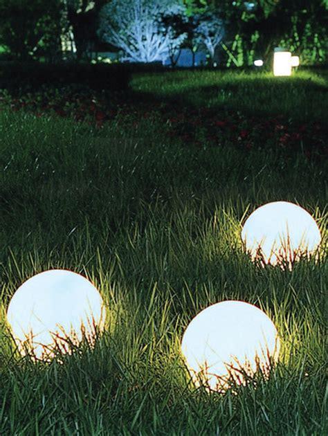 gli introvabili giardino set 3 sferiche ad energia solare gli introvabili