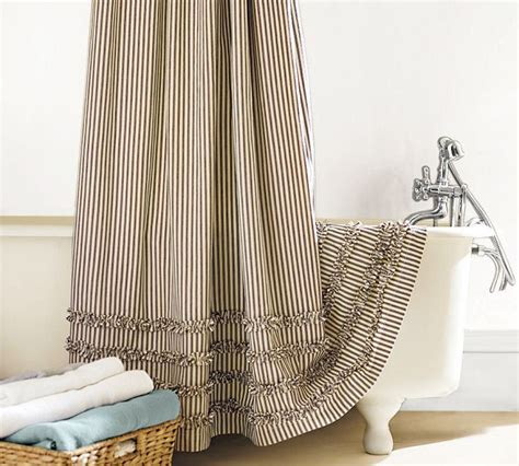 ticking shower curtain ticking shower curtain tidbits twine