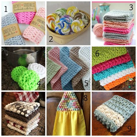 craft show projects washcloth tawashi dishcloth patterns roundup