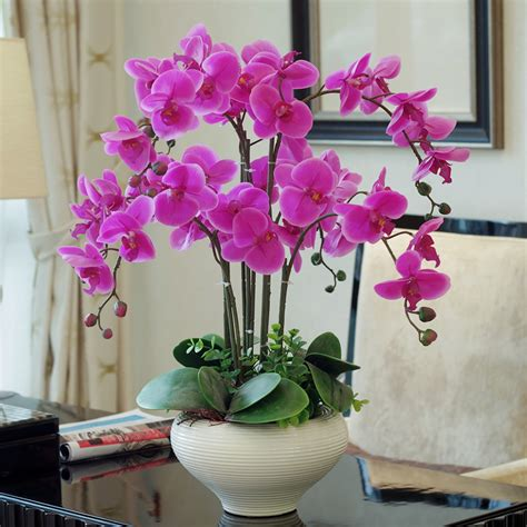 best 4pcs free shipping artificial flower phalaenopsis