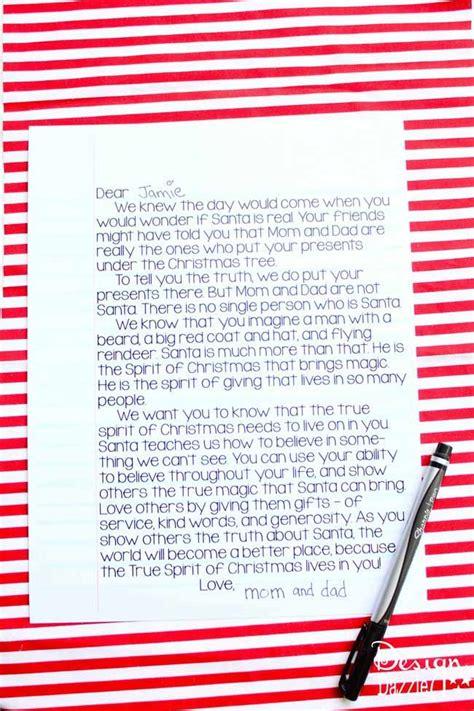 letter  kids santa  real  printable carrie  cheer